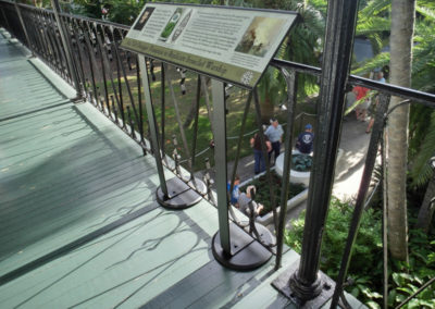The Ernest Hemingway Home and Museum  Key West, FL - Outdoor rail with changeable graphics rail