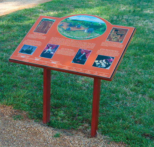 Environment Signage by Museum Rails at James Madison's Montpelier in Orange VA